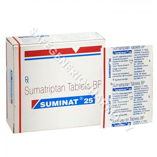 Suminat 25 mg - Buy Suminat 25mg ( Sumatriptan ) Online in USA